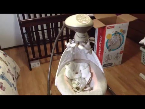 Fisher Price Snugapuppy Electric Baby Swing Assembly Tutorial