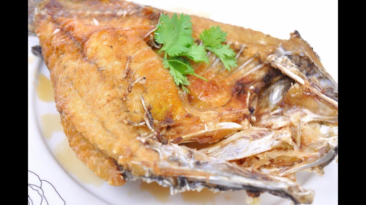 ปลากะพงทอดน้ำปลา   อาหารไทย