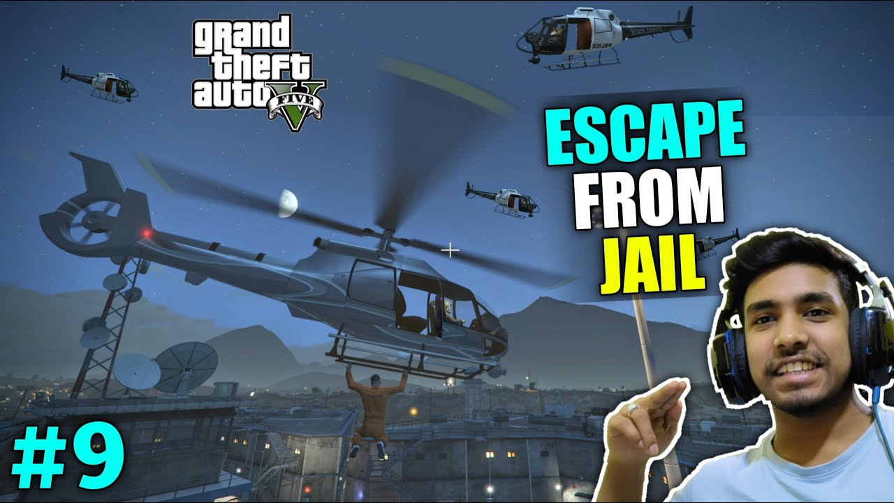 FRANKLIN ESCAPE FROM PRISON | GTA V GAMEPLAY #9