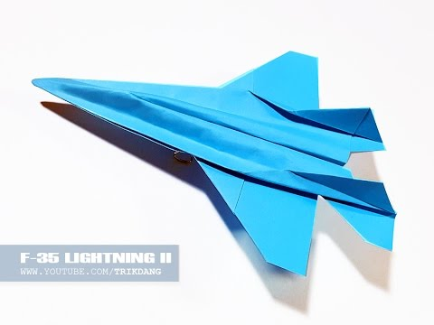 Best Paper Jet Fighter How To Make A Airplane That Flies F 35 Lightning Ii