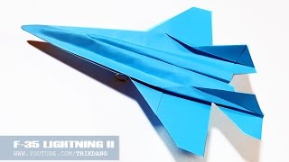 How to make a paper airplane - Best Origami paper Jet flies that FLIES FAST | F-35 Lightning II