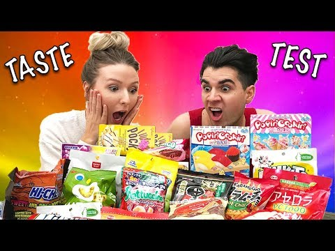 COUPLE TRYING JAPANESE CANDY!!