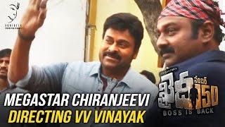 Megastar Chiranjeevi directing VV Vinayak || Khaidi No 150 || Kajal Aggarwal || DSP