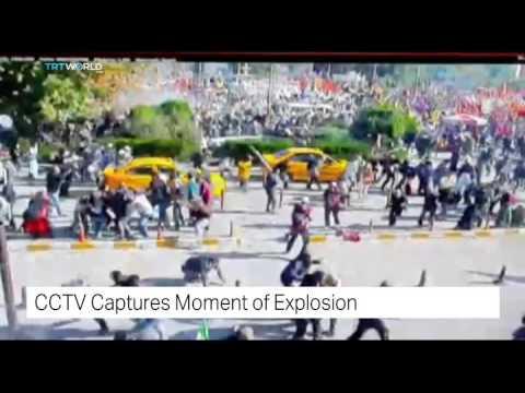 TRT World: CCTV captures moment of explosion in Turkey's capital Ankara
