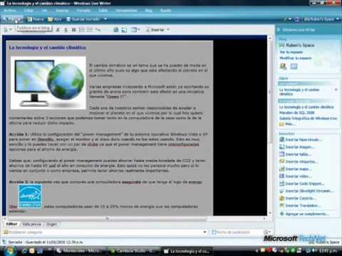Pocket Webcast Uso de Windows Live Writer
