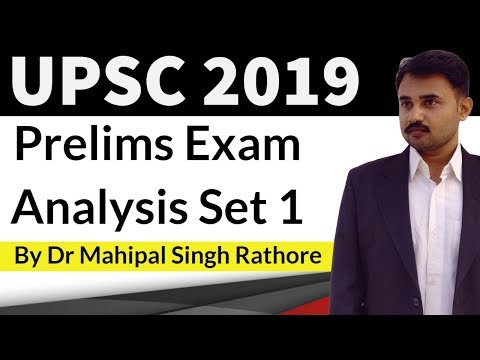 UPSC 2019 Prelims question paper answer key & analysis Set 1 by Study IQ