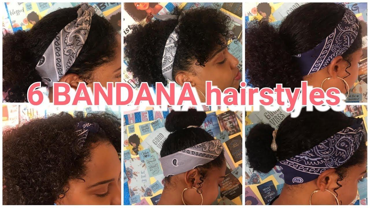 9 BANDANA Hairstyles for Short Curly Hair