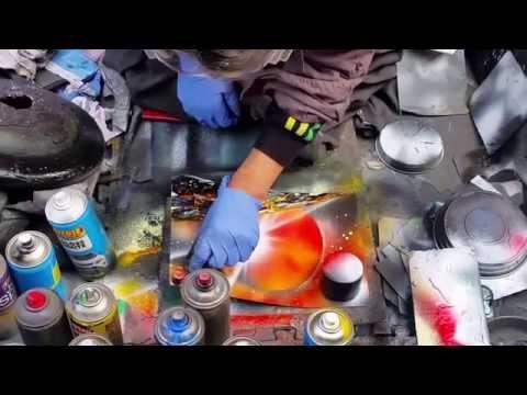 Rocky – Spray Can Artist – Grafton Street, Dublin, Ireland