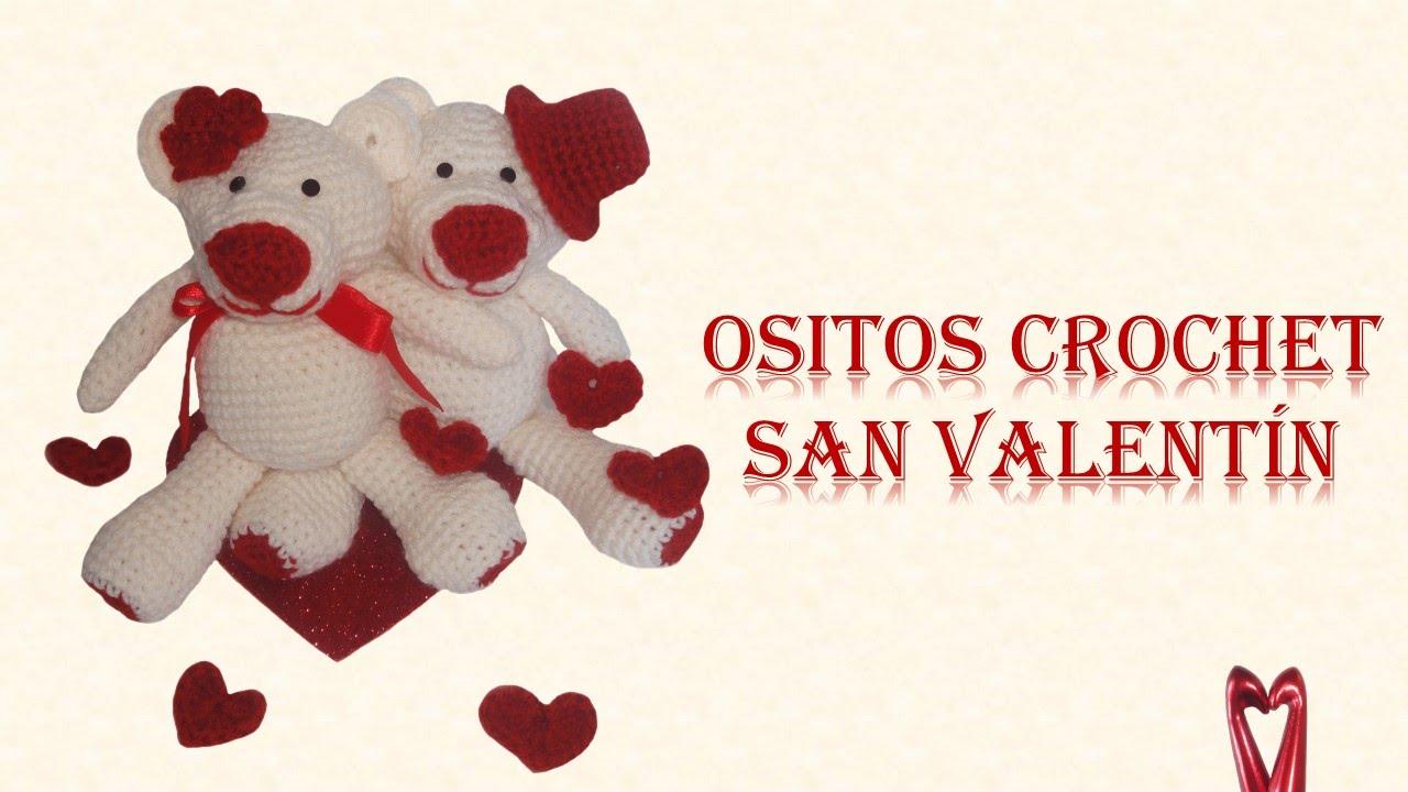 Osito Amigurumi - Crochet San Valentín - Parte 2 (acabados, flor y ...