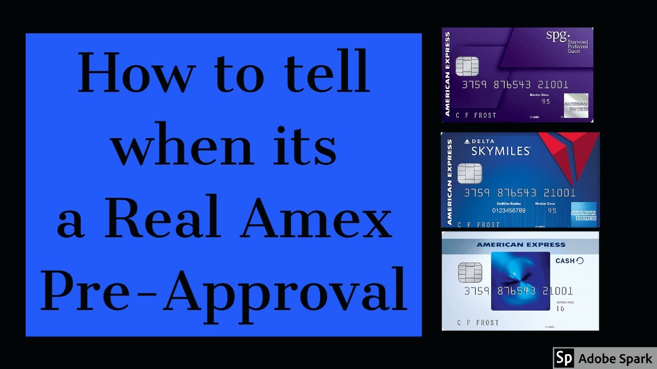 How to tell if you are Pre Approved for an American Express ...