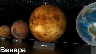 �������� ���� Размеры планет. Красивая музыка. ������