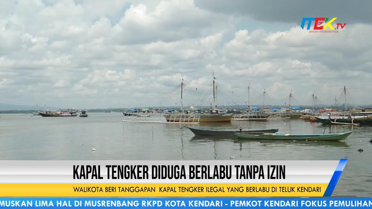 Kapal Tengker Diduga Berlabu Tanpa Izin di Teluk Kendari