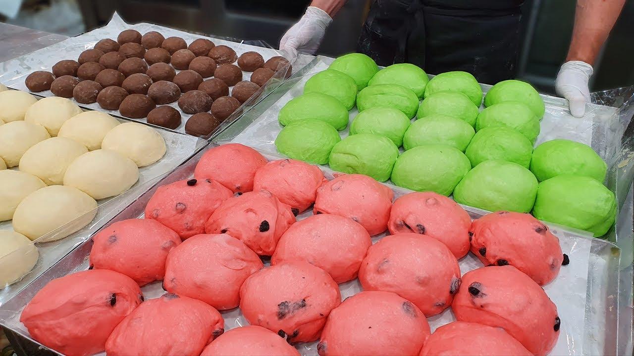 Fun and Cute! Watermelon Bread - Korean Food [ASMR]
