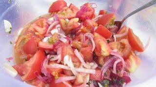 ВКУСНОТИЩА! Маринованные помидоры за 2 часа! Закусочный салат по -летнему