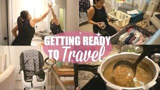 CLEAN, COOK & PACK WITH ME // GETTING READY TO TRAVEL // LENTIL SOUP RECIPE