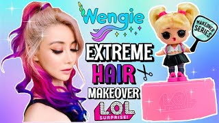 OOPS BABY gets WENGIE Unicorn Hair! 🦄 LOL Surprise HAIR GOALS EXTRE...