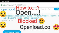 How to download from blocked openload site | Hindi हिन्दी | tutorial easy