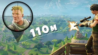 Easy 110m Snipe on Fake Default Skin (Playing Fortnite on $800 Monitor - Gameplay)