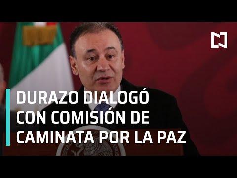 Durazo se reunió con comisión de la Caminata Por la Verdad, la Justicia y la Paz - Las Noticias