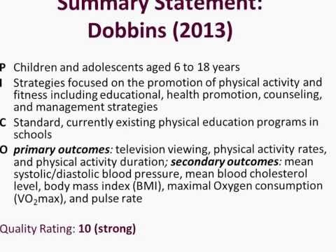 CCC School-based physical activity: What's the evidence?