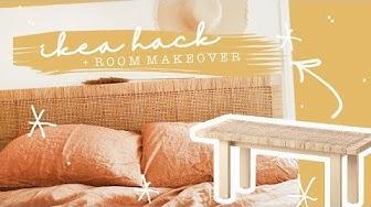 IKEA HACK + Mini Bedroom Makeover!