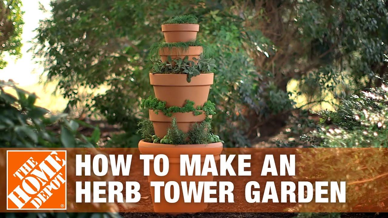 Herb Tower Garden   Container Gardening