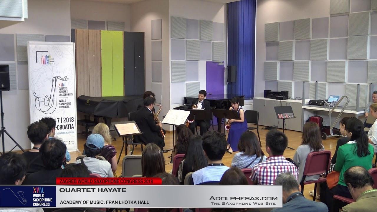 Saxophone Quartet Nº2 by Yasuhide Ito    Hayate Quartet   XVIII World Sax Congress 2018 #adolphesax