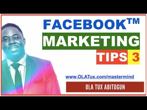 Facebook Marketing Tips 3 - How to use Facebook for Network Marketing