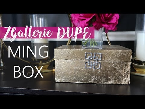 ZGallerie Inspired Dupe | Dollar Tree DIY  - Ming Boxes