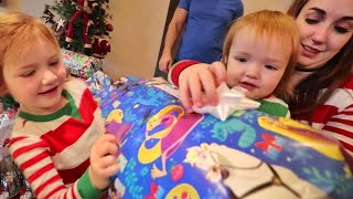 CHRiSTMAS MORNiNG!!!!  Our Family Routine for Santa, Stockings, Tree, The Presents then Playing!!