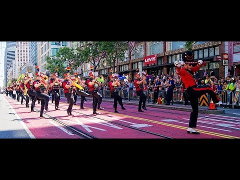 SF Lesbian/Gay Freedom Band in 2018 SF Pride Parade