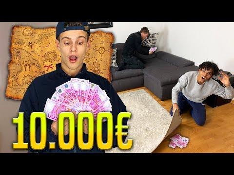 Ich VERSTECKE 10.000€ in meiner Wohnung & sie dürfen alles BEHALTEN was sie finden! 🤑