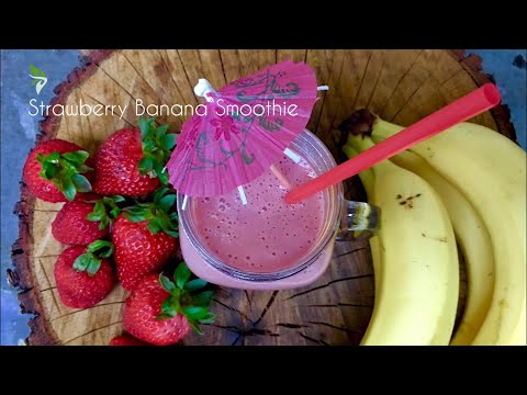 Strawberry Banana Smoothie with Coconut Milk and Honey[#37]
