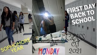 SOPHOMORE YEAR GRWM + FIRST DAY OF SCHOOL VLOG-BROOKE&ESTHER