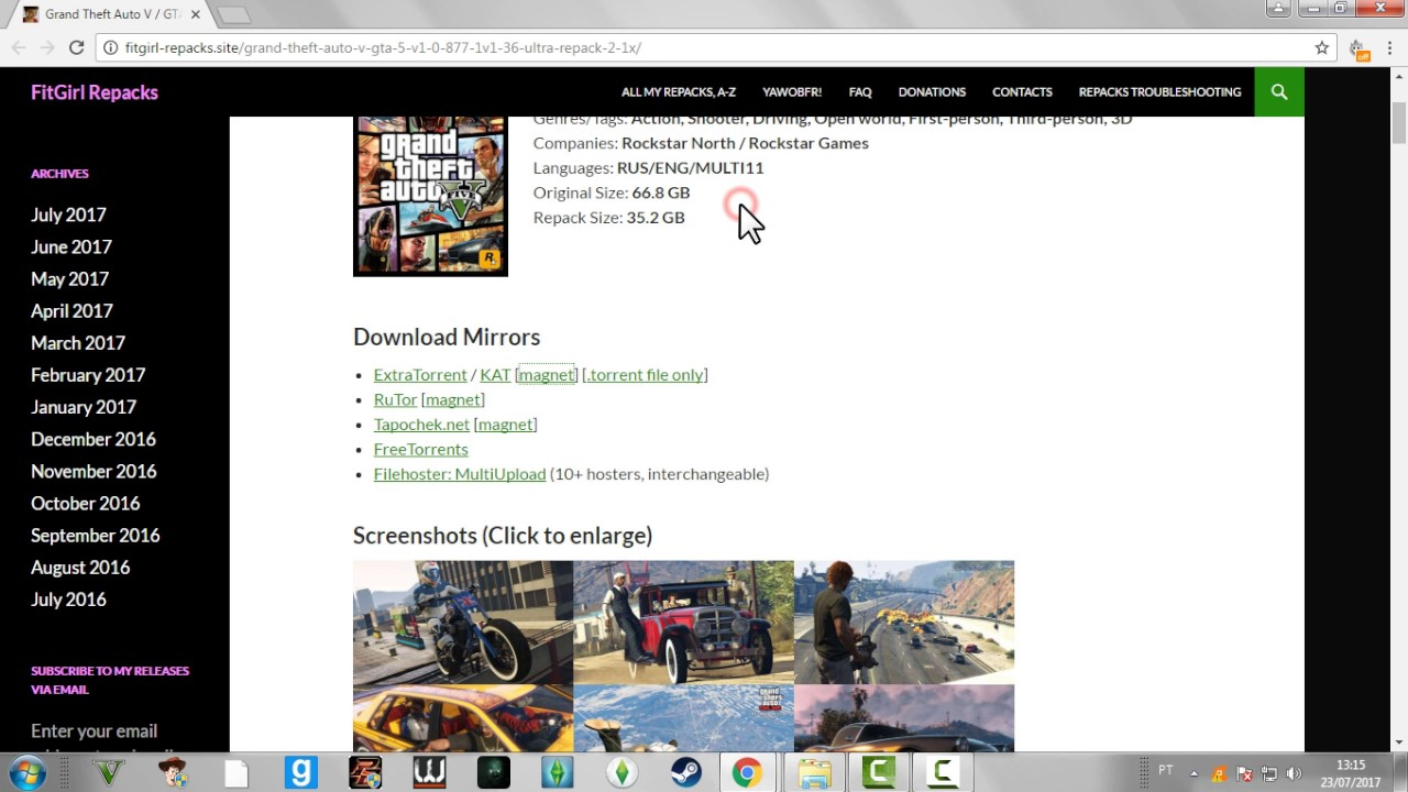 - GTA V FOR ANY LOW PC! 32GB REPACK!! -