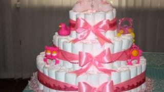 Красивые торты из памперсов, подгузников для девочек и мальчиков(Если вы идете на празднование рождения малыша, тогда приготовьте для него красивый торт из памперсов, подгу..., 2016-01-26T20:00:11.000Z)
