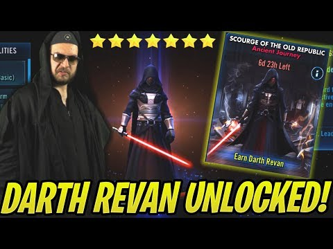 Darth Revan Unlocked! How to Beat Tier 5 Easily! NO ZETAS! Scourge of the Old Republic | SWGoH