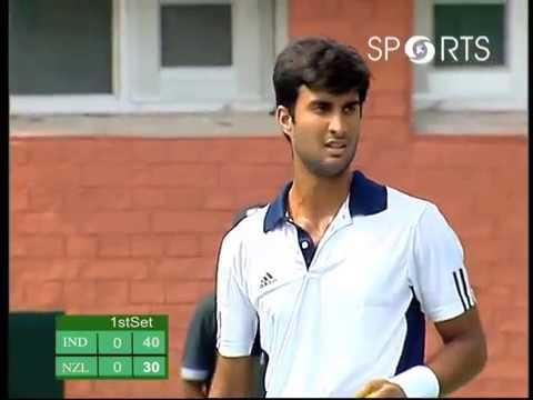Davis Cup 2012 - Men's Singles | Yuki Bhambari vs Jose Statham | #INDvNZ