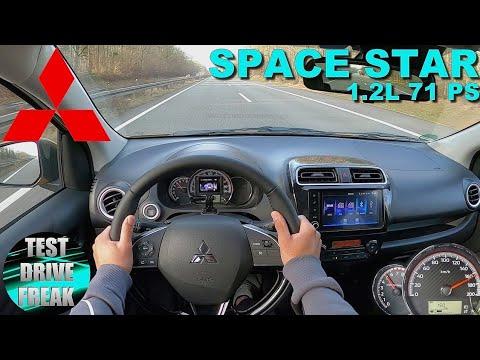 2021 Mitsubishi Space Star 1.2 L Top 71 PS TOP SPEED AUTOBAHN DRIVE POV