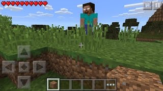 I FOUND HEROBRINE !!! Minecraft Pocket Edition 0.14.0 horror film