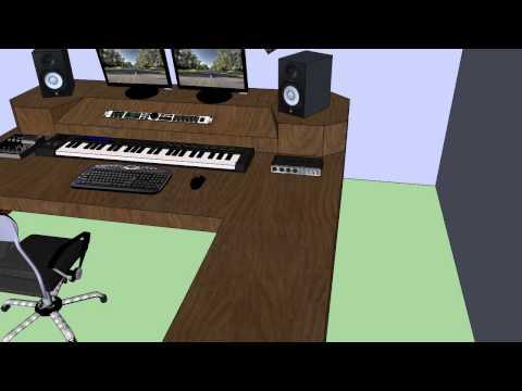 Diseño de escritorio studio grabacion