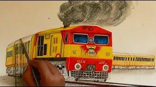Kalyan WDP3A in Tejas livery sketching