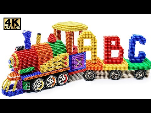 DIY - How To Make ABC Train From Magnetic Balls (Satisfying and Relax) | Magnet World 4K
