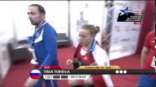 TURIEVA Tima 1j 132 kg cat. 63 World Weightlifting Championship 2013