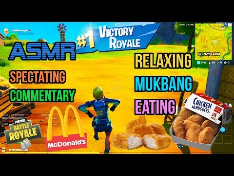 ASMR Gaming 🍗 Fortnite Mukbang Eating McDonald's Chicken Nuggets Commentary 먹방 🎮🎧 Relaxing 😴💤