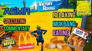 ASMR Gaming ???? Fortnite Mukbang Eating McDonald's Chicken Nuggets Commentary 먹방 ???????? Relaxing ????????