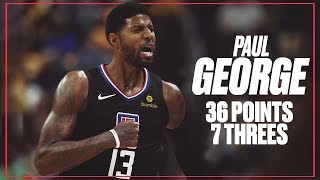 Paul George Goes Off for 36 Points and 7 Threes vs. Former Team