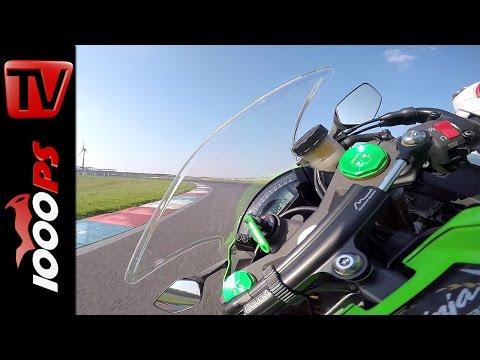 Kawasaki Ninja ZX-10R Onboard | Superbike Vergleichstest 2015