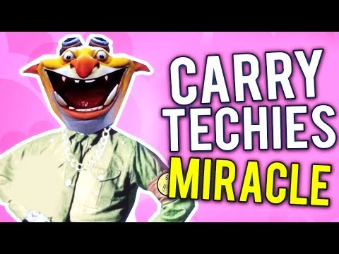 Genius Miracle- Carry Techies Gameplay Brutal Combo 1vs5 IMBA Show 7.07 WTF Dota 2