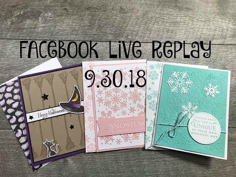 Facebook Live Replay 9.30.18